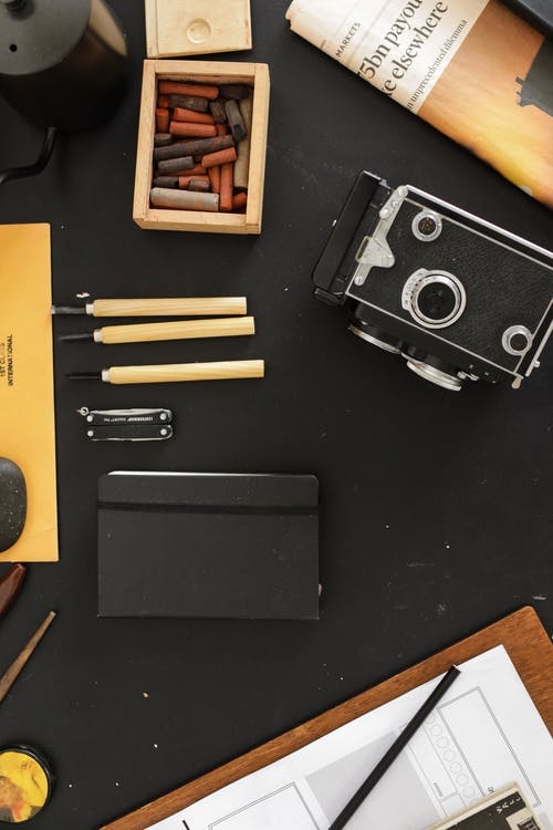 Free stock photo of analog camera, arts and crafts, business