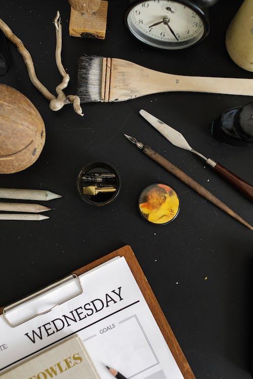 お土産, フラットレイ, 万年筆の無料の写真素材