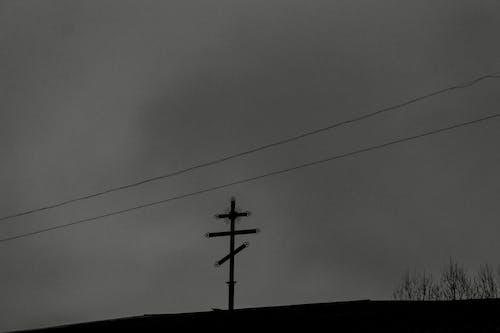 Foto profissional grátis de cabos, cair da noite, céu nublado