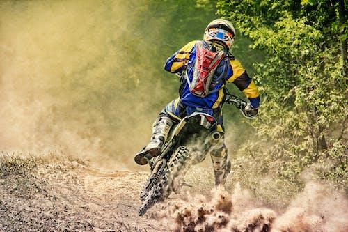 Free stock photo of dirt bike, dust, motorcycle