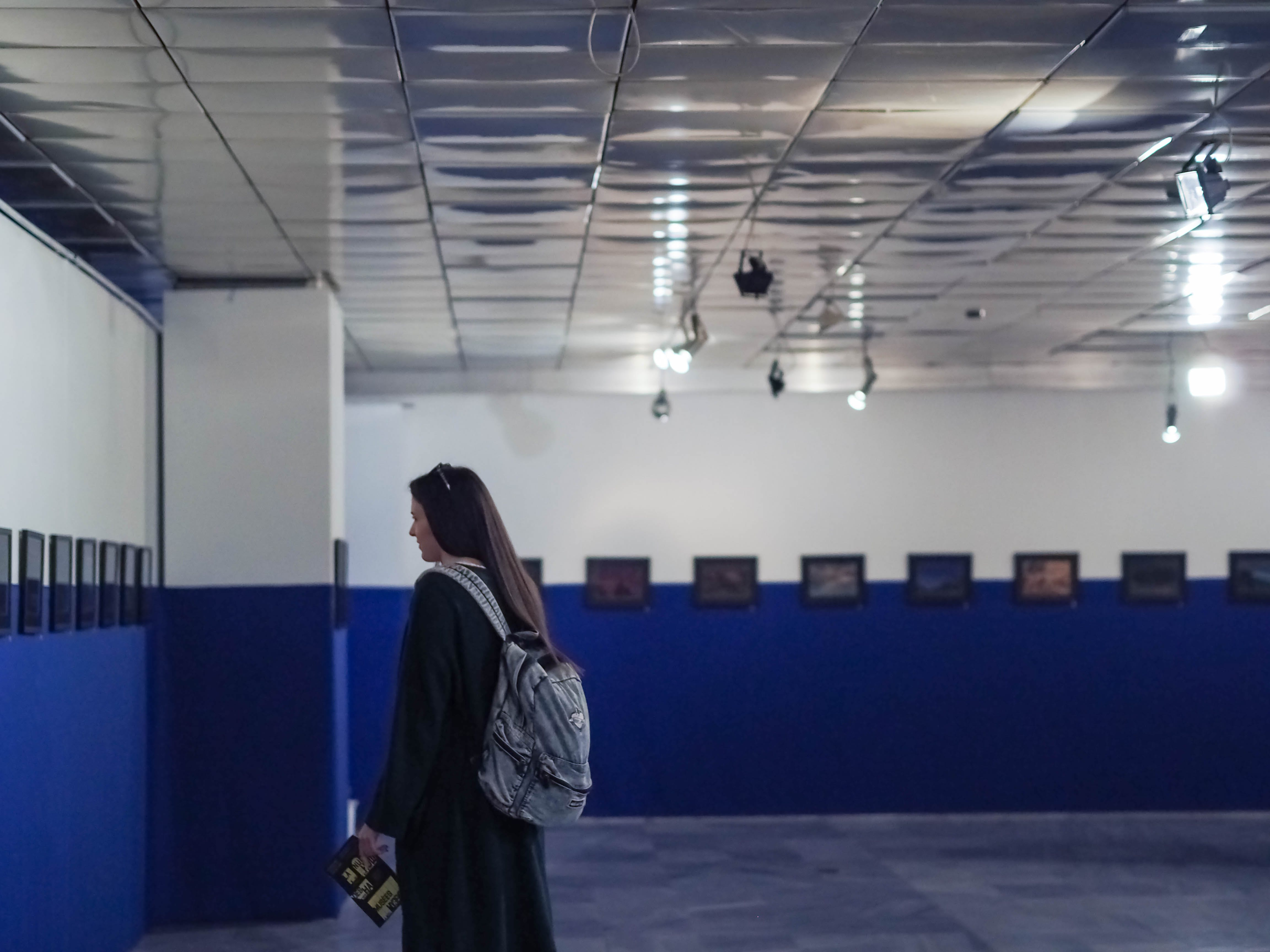 Free stock photo of alone, art, art gallery, backpack