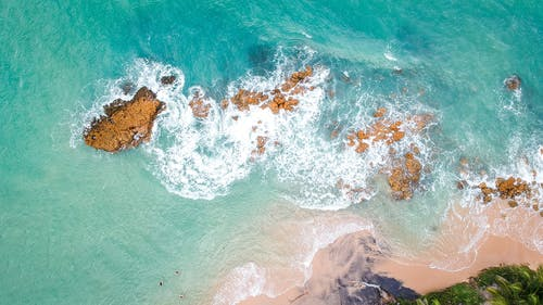 High Angle Photography of Ocean