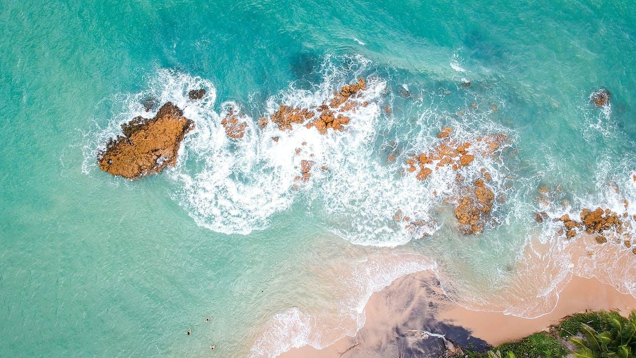 Hoge Hoekfotografie Van De Oceaan