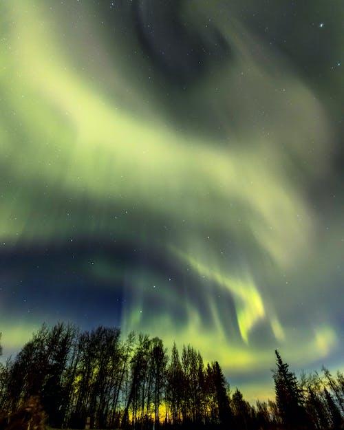 açık hava, Aurora borealis, bakir bölge içeren Ücretsiz stok fotoğraf
