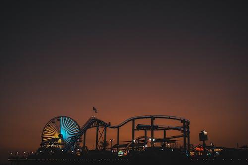 açık, akşam, ay, aydınlatılmış içeren Ücretsiz stok fotoğraf