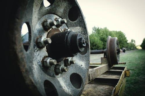 火車, 生疏, 車輪, 金屬 的 免费素材照片