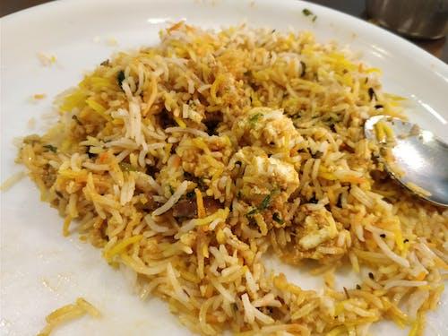 Fotobanka sbezplatnými fotkami na tému biryani, biryani rice, jedlo, paneer biryani