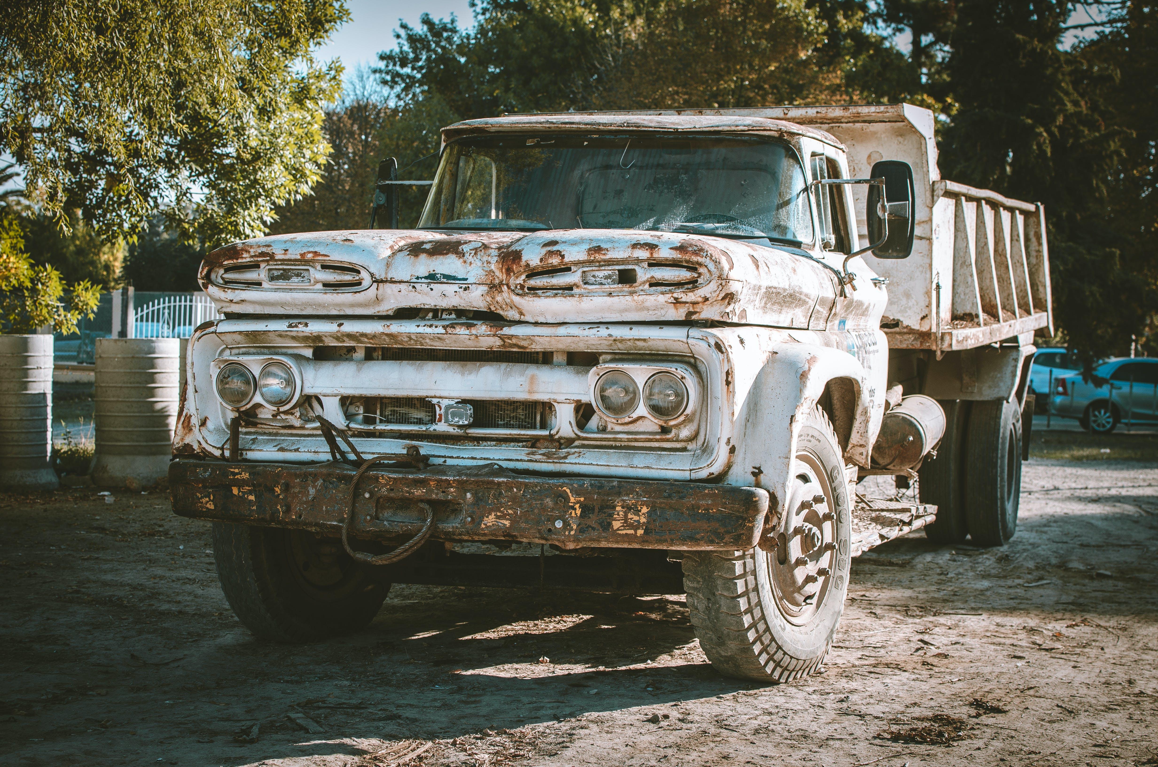 Photo of White Dump Truck