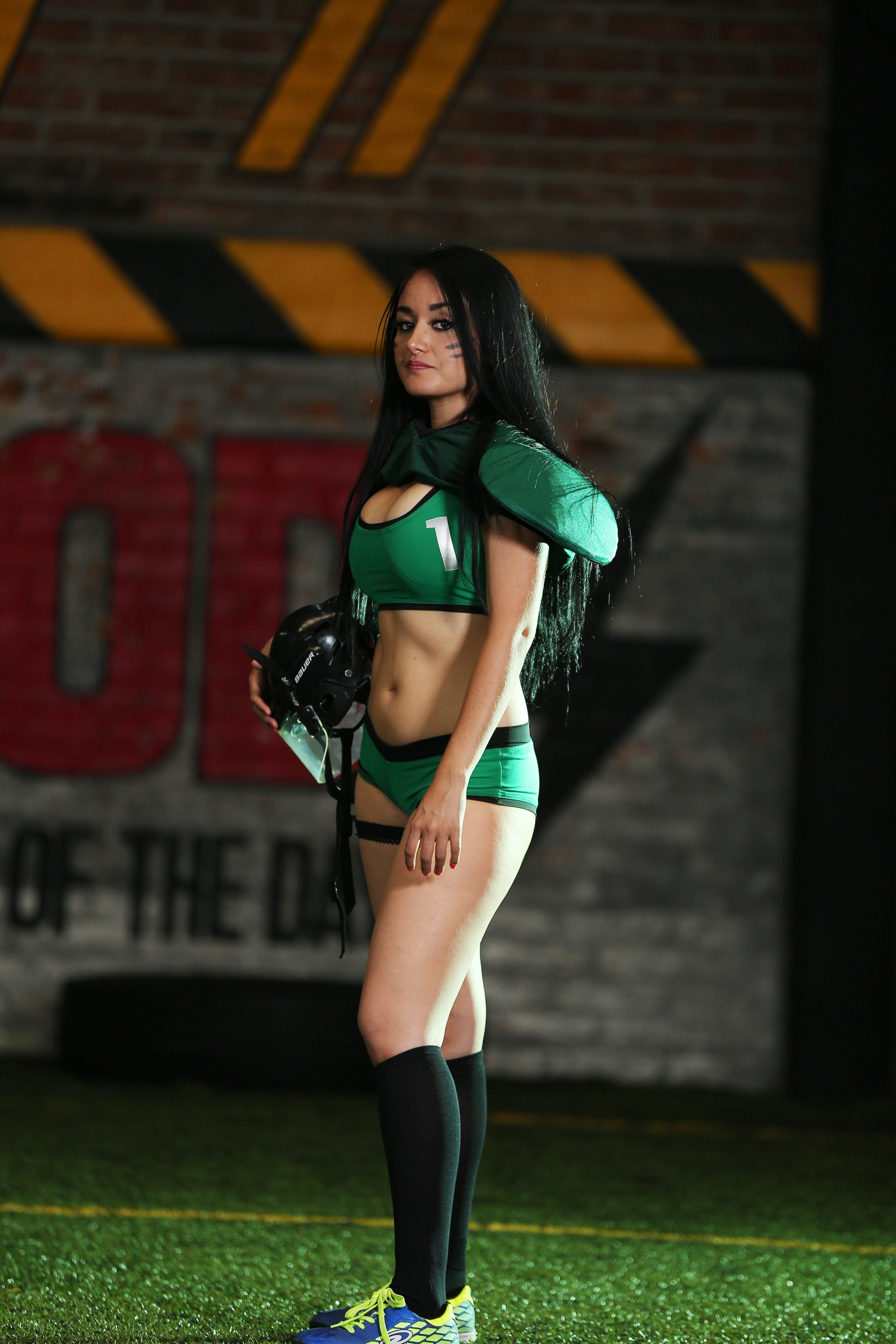Woman Wearing Green Sports Uniform