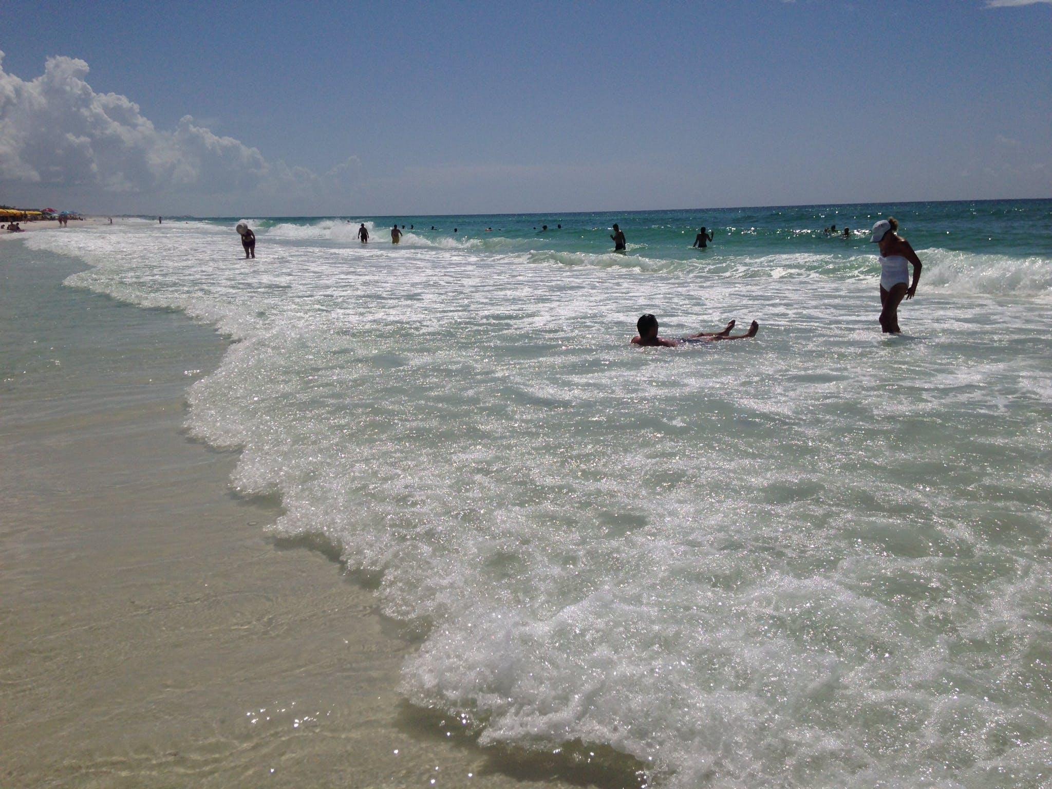 Free stock photo of beach, blue sky, everyday people, florida