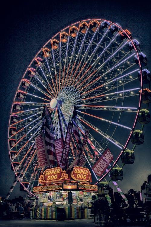 amusement, beau temps, carnaval