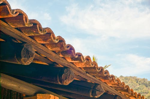 Free stock photo of roof, sky, vintage, wood