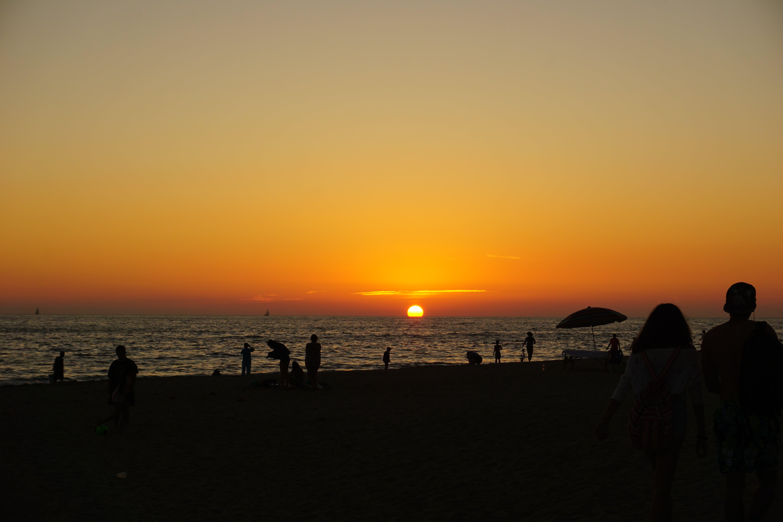 Free stock photo of beach, evening sky, evening sun, golden sunset