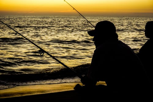 Free stock photo of dark, figure, fisherman, shadow
