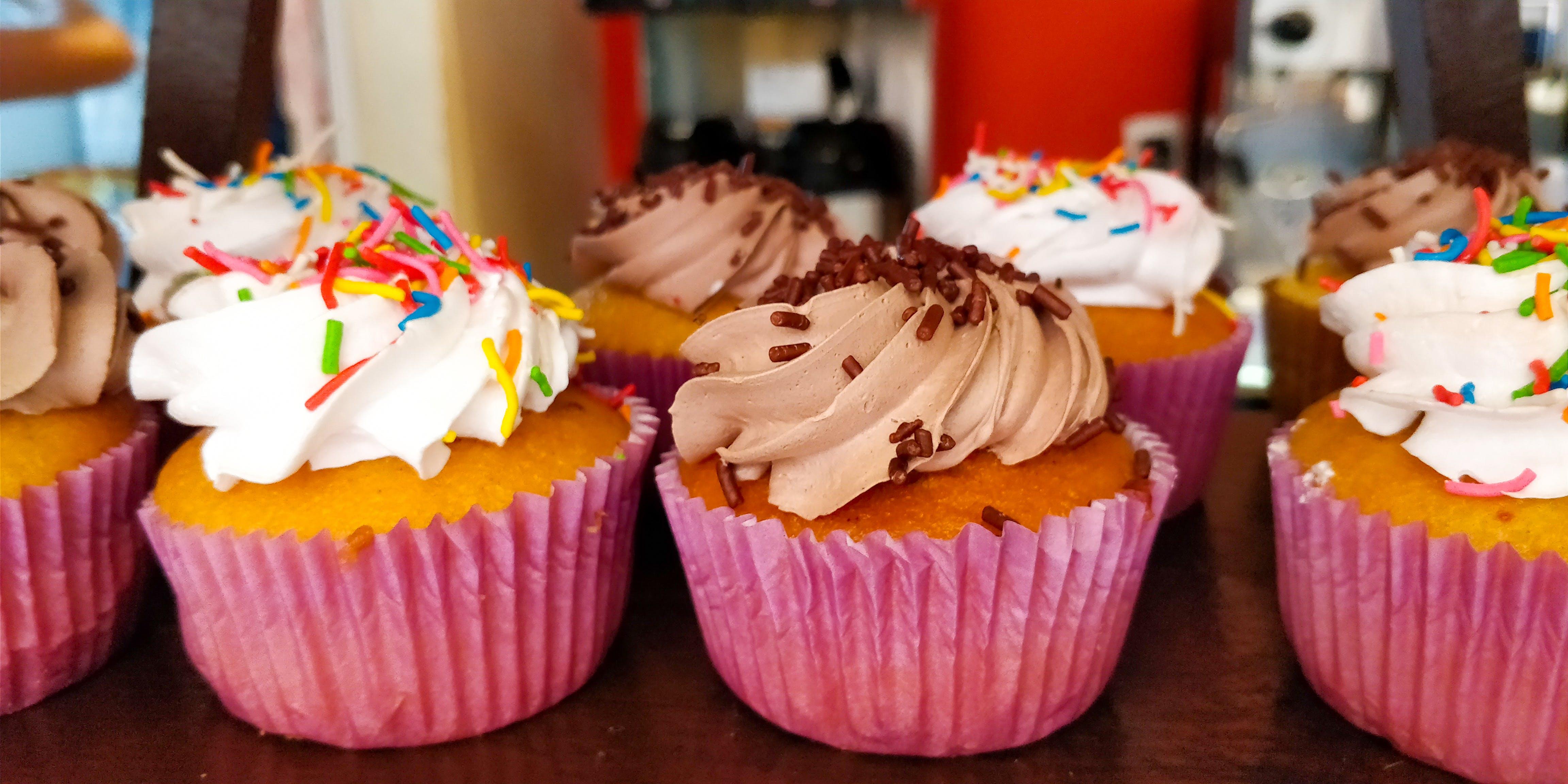 Free stock photo of cupcakes, dessert, desserts, sweet