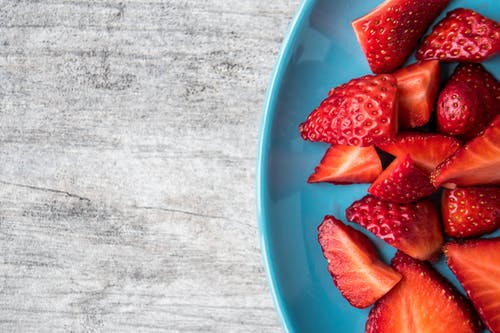 Bowl of Slices of Strawberries