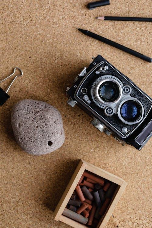 Foto stok gratis batu, berbaring datar, cokelat
