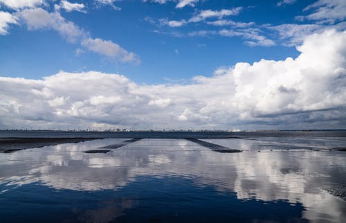Free stock photo of blue sky, clouds, light reflection