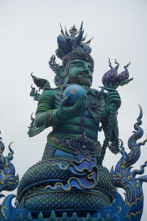 Green and Gold Dragon Statue
