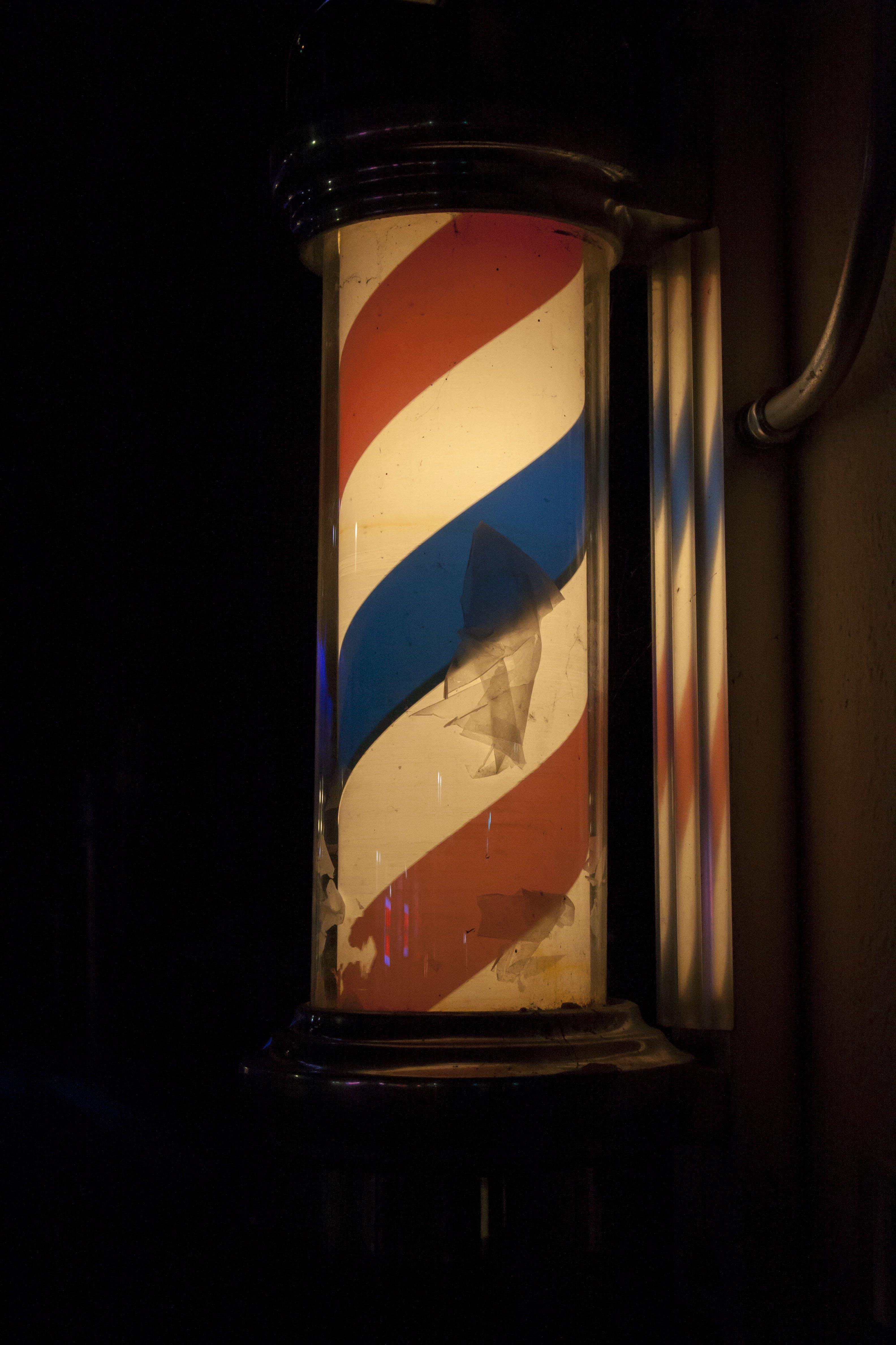 Free stock photo of barbershop, light, pole, serene
