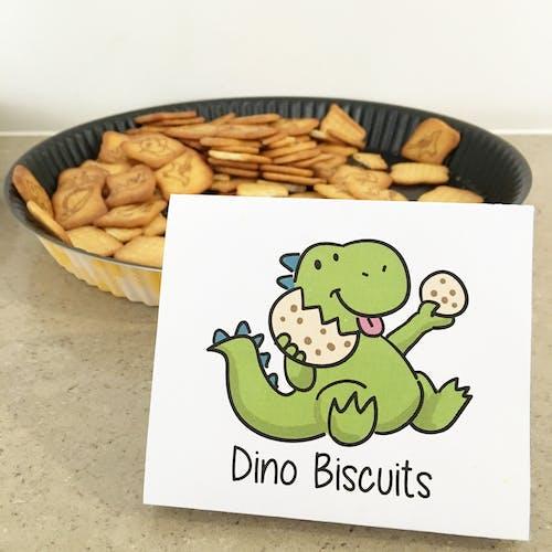 Photos gratuites de biscuit, dinosaure, étiquette