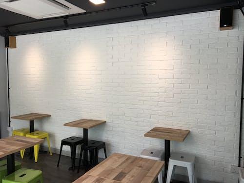 Photos gratuites de brique blanche, f & b, intérieur