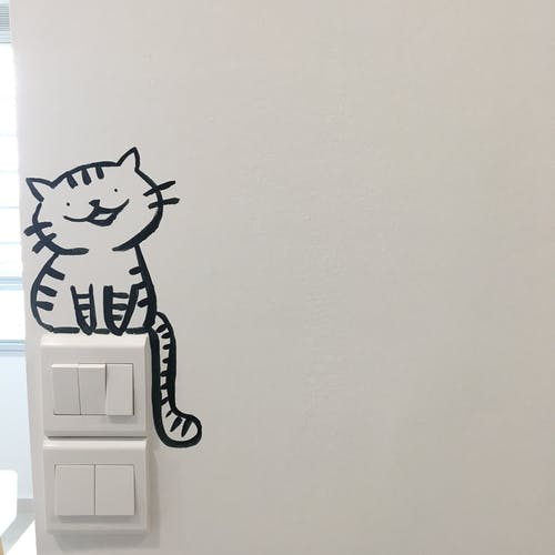 Free stock photo of apartment, cat, doodle