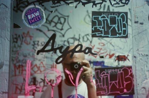 Gratis arkivbilde med defokusert, graffiti, headshot