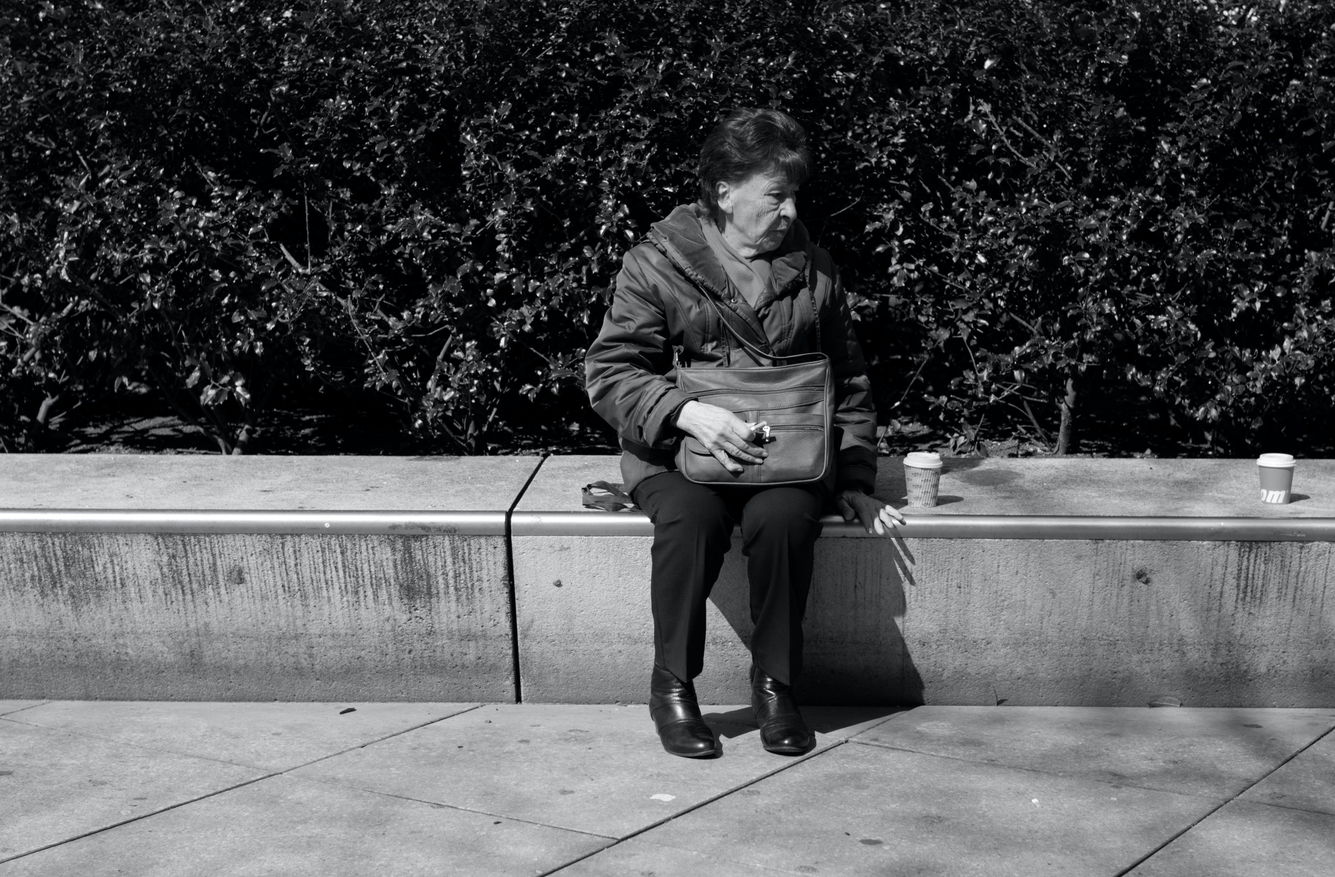 Free stock photo of Alexanderplatz, black and white, coffee, people