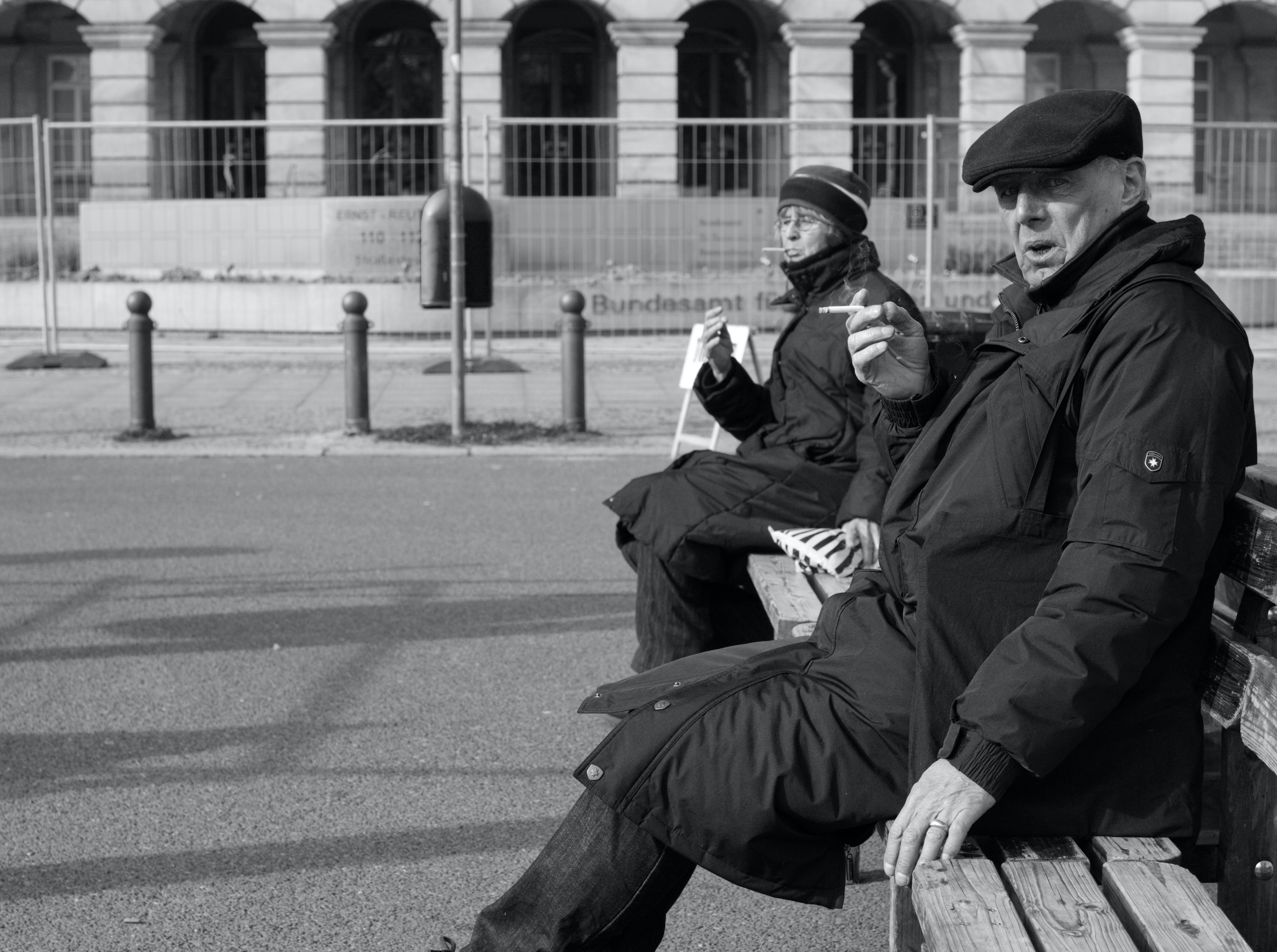 Free stock photo of berlin, black and white, old, people