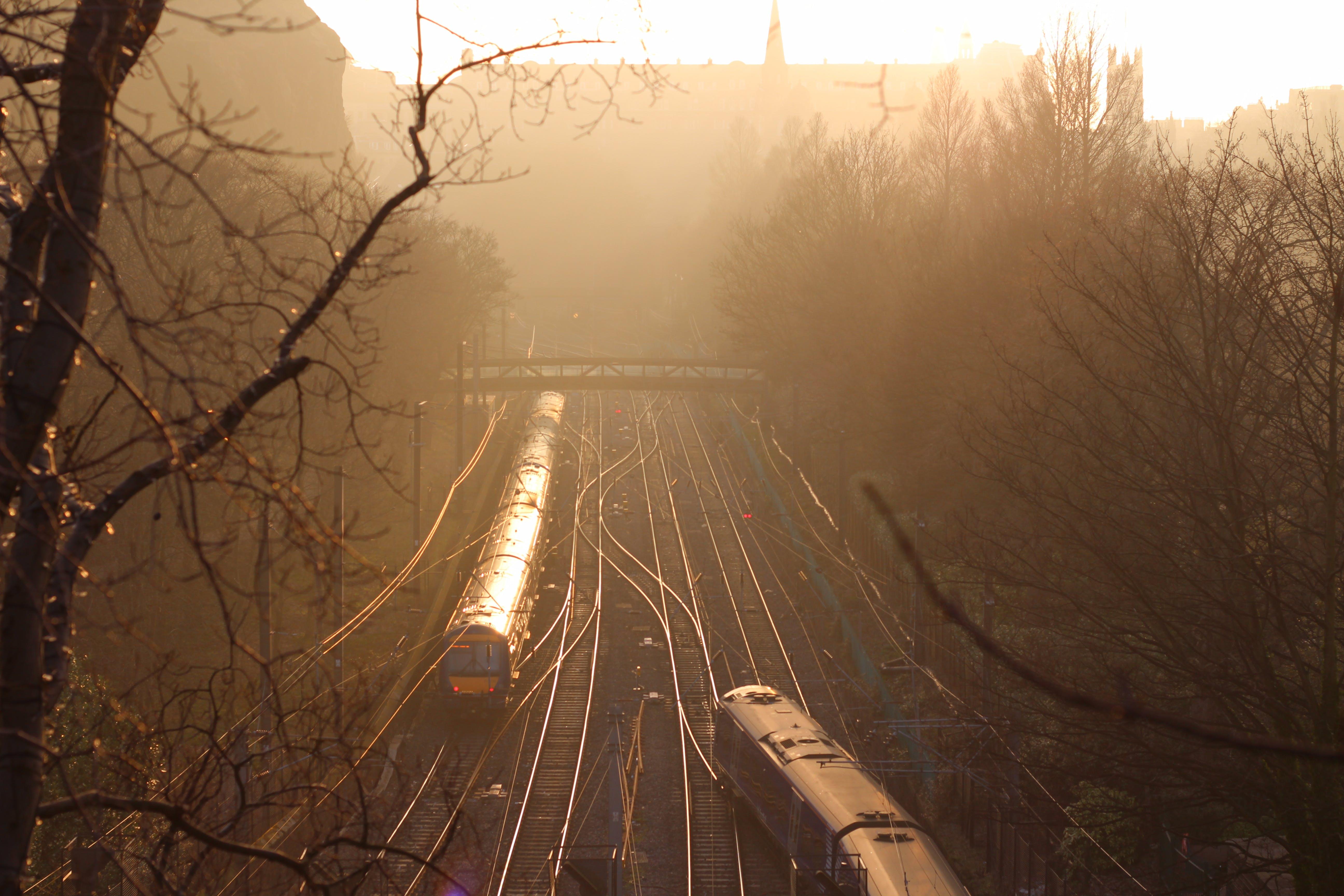 Free stock photo of bridge, edinburgh, haze, rail