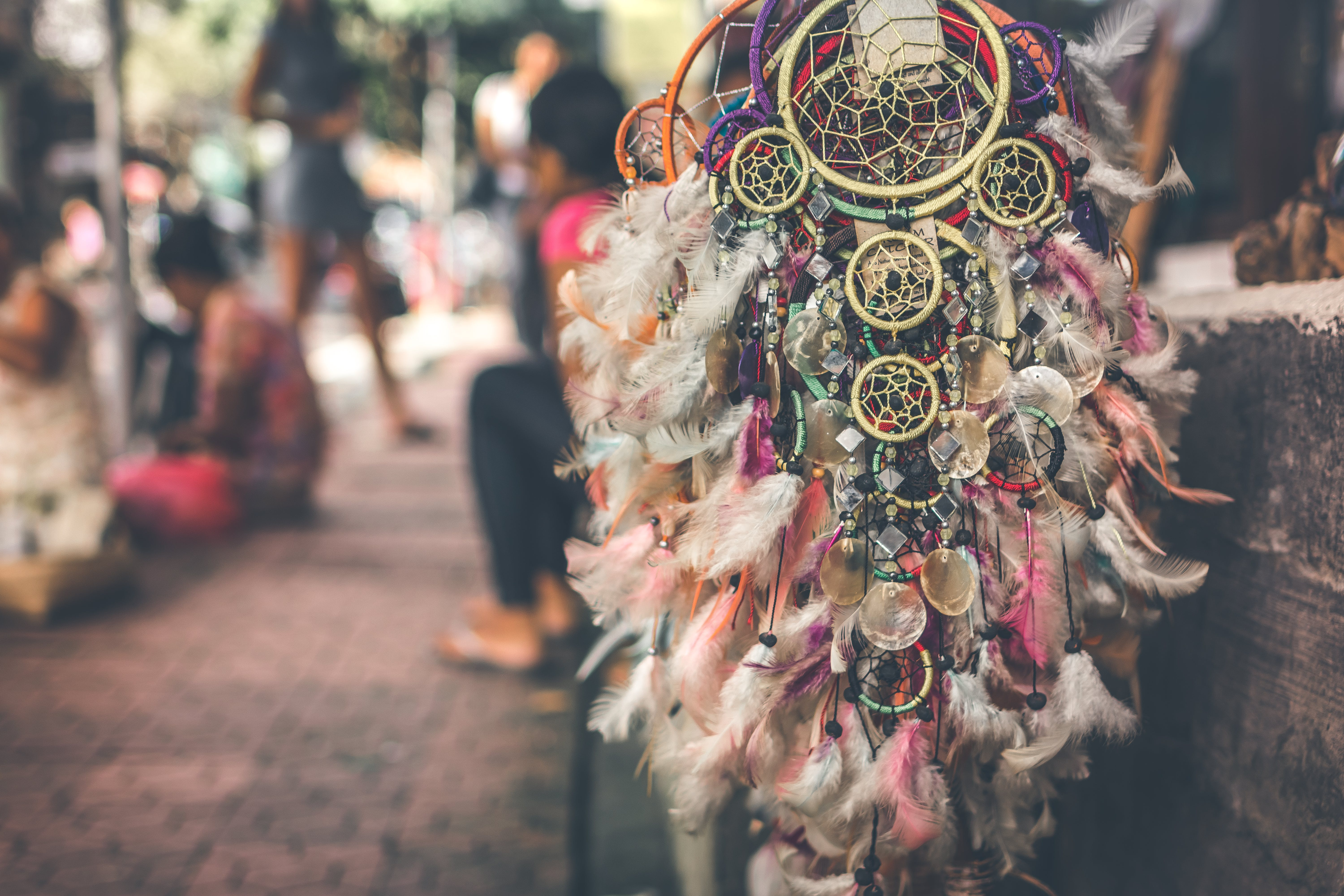 Selective Focus Photography of Dreamcatchers