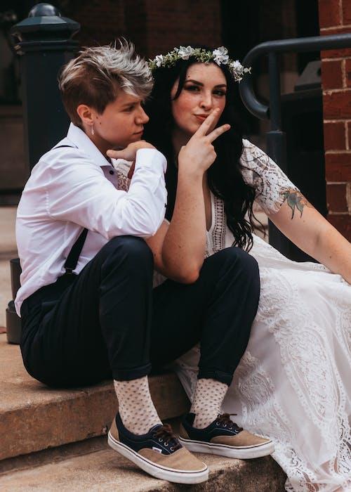 Free stock photo of bride, dress, engagement