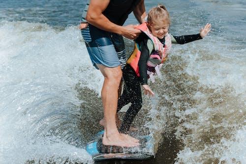 คลังภาพถ่ายฟรี ของ wakesurfing, กระดาน, กลางแจ้ง