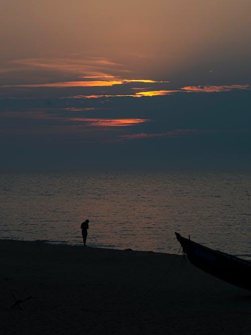 คลังภาพถ่ายฟรี ของ การสะท้อน, ชายหาด, ชาวประมง