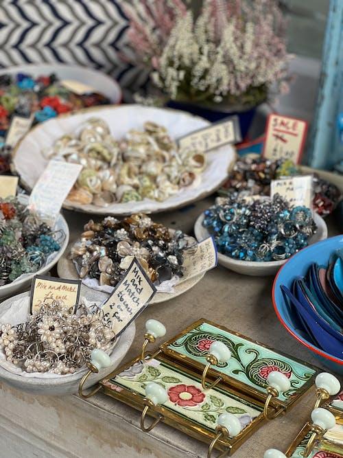 Free stock photo of bazaar, beads, booth