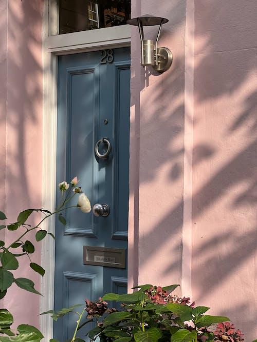 Blue Door to Building