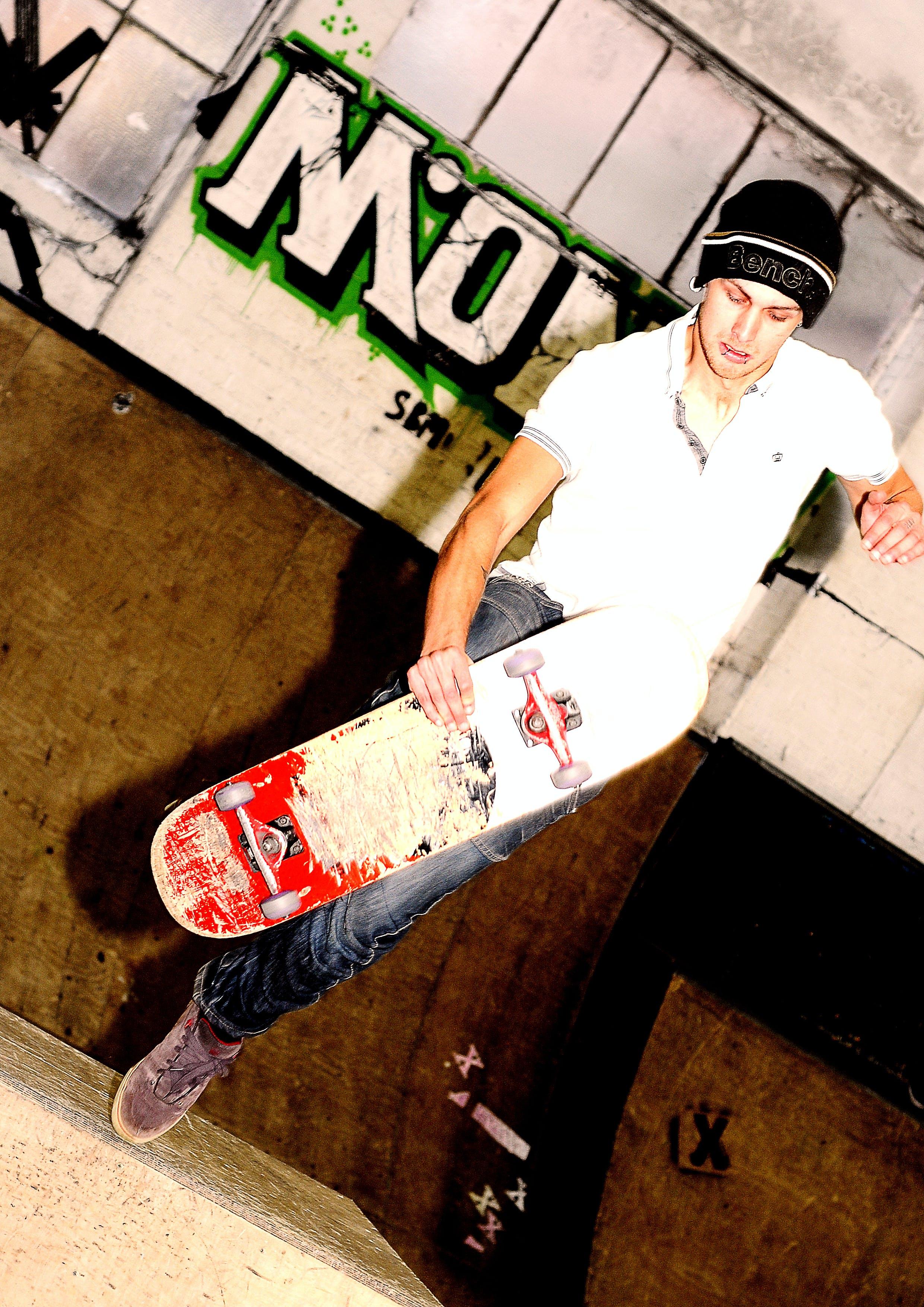 Free stock photo of graffiti, skateboarder