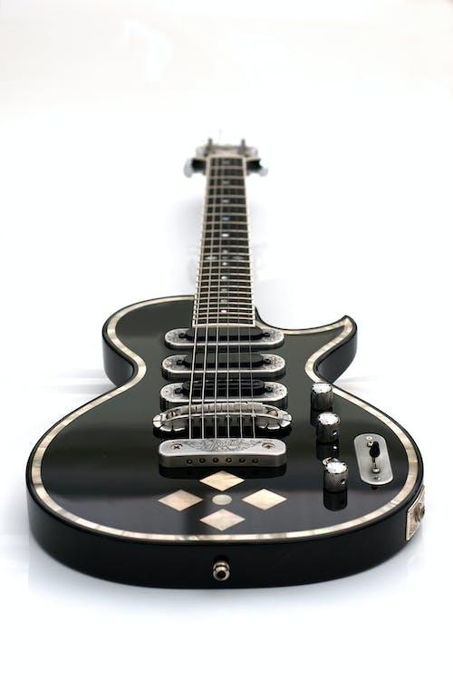 Immagine gratuita di chitarra elettrica, gibson, inserto di perle