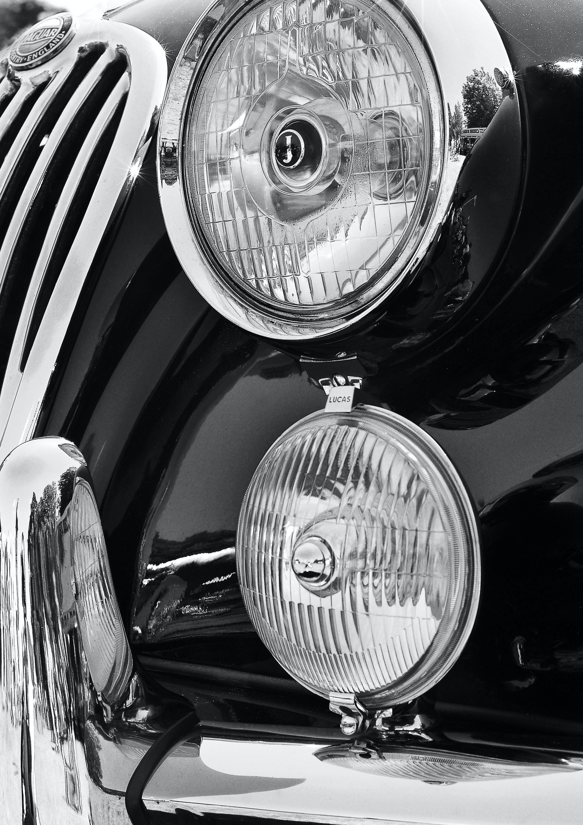 Close-Up Photography of Headlights