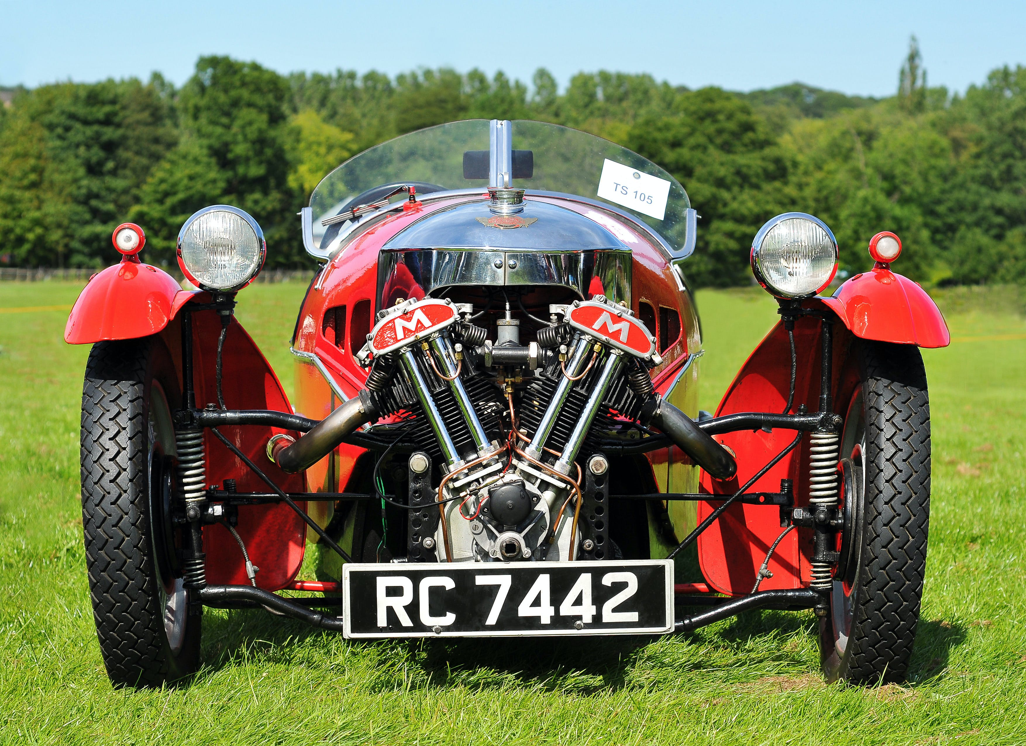 Free stock photo of 3-wheeler, car engine, classic car, Morgan