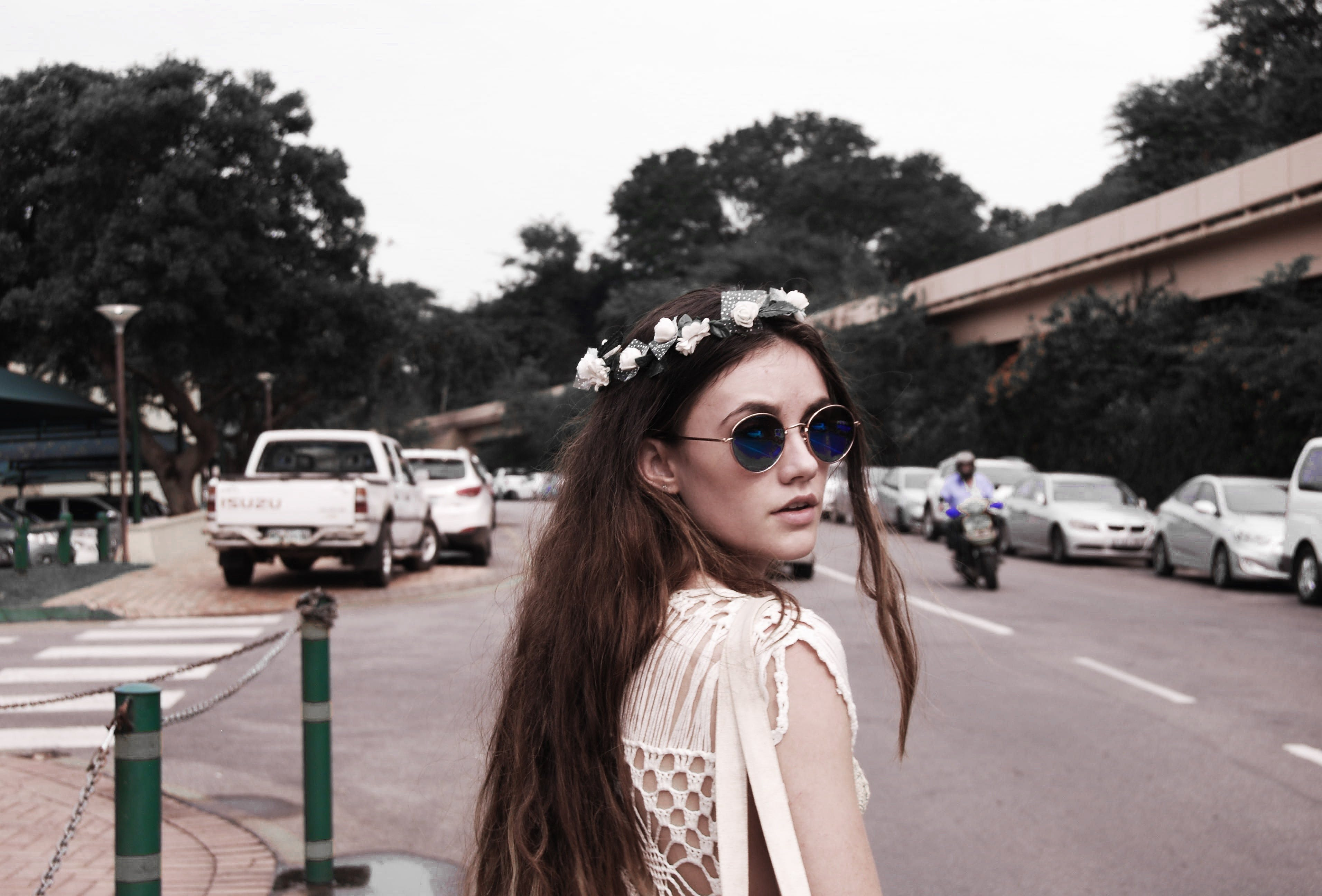 Photography of a Woman Wearing Vintage Sunglasses