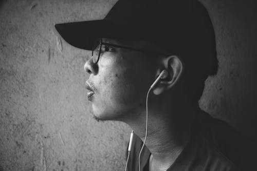 Free stock photo of asian man, b&w, black and white, black and-white