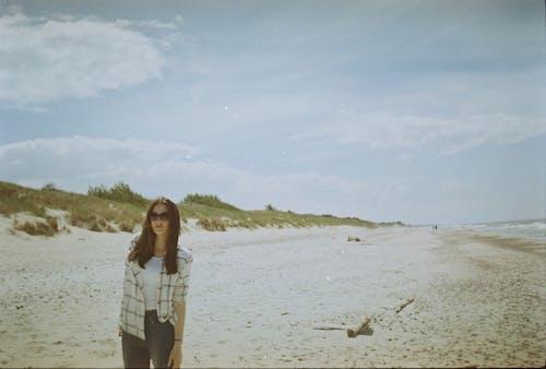 Foto stok gratis berdebu, di pantai, film 35mm