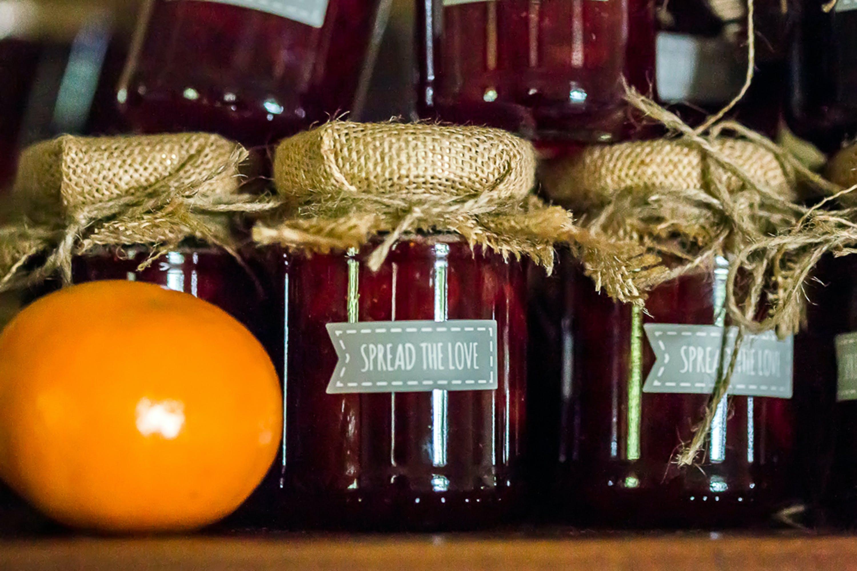 Free stock photo of jam, love, spread