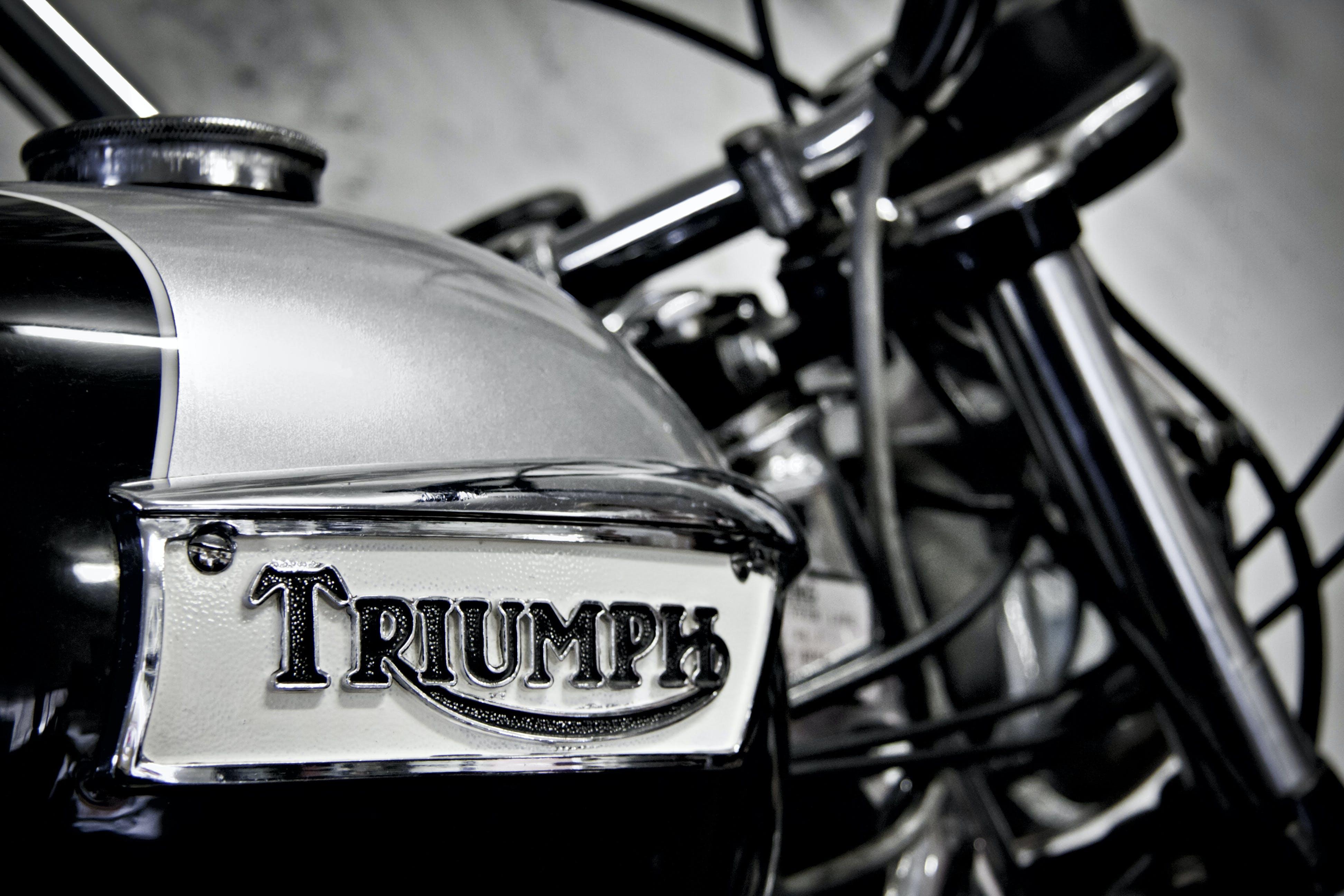 Free stock photo of badge, bike, black and white, motorbike