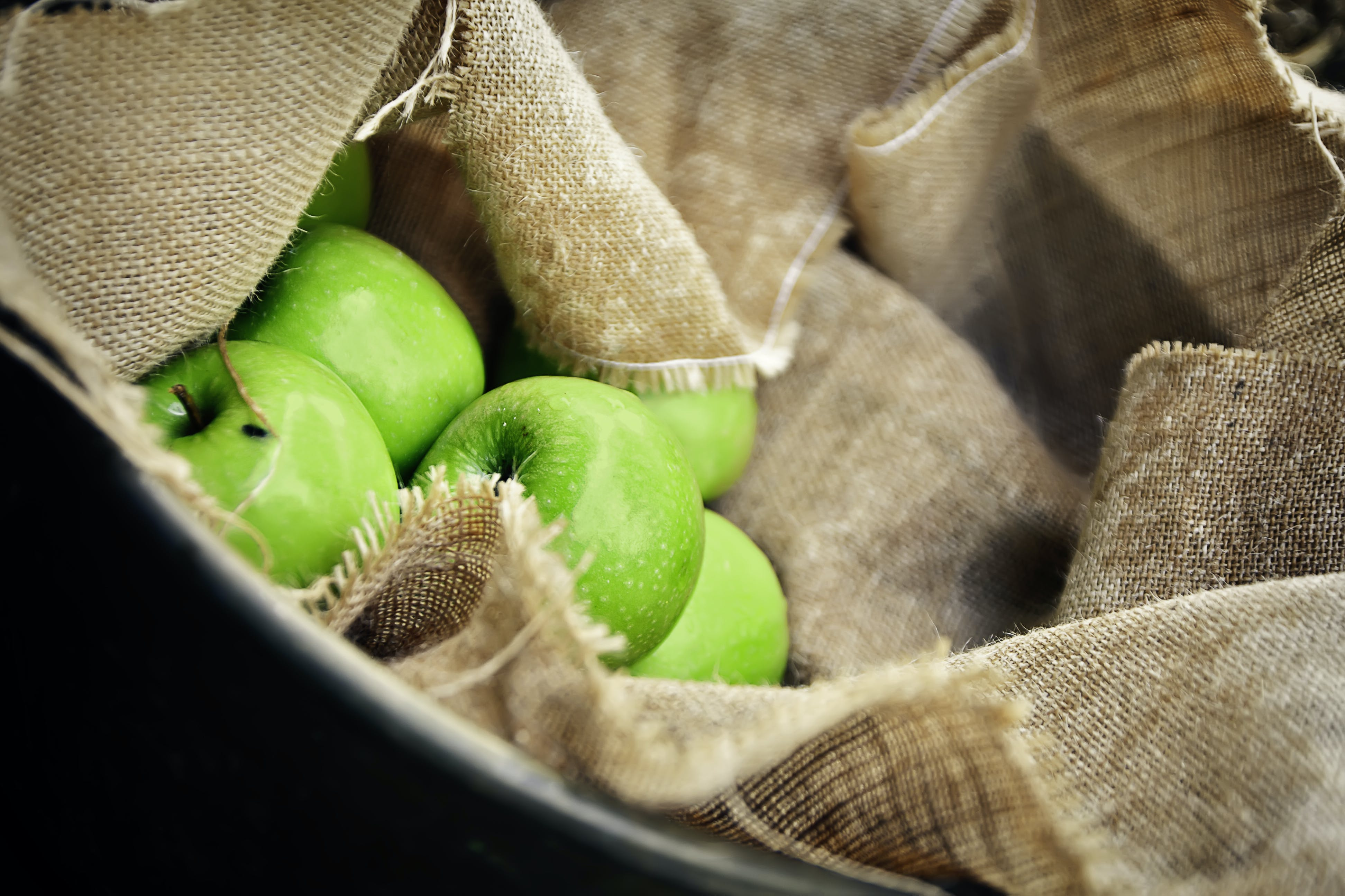 Macro Shot Photo of Green Apples