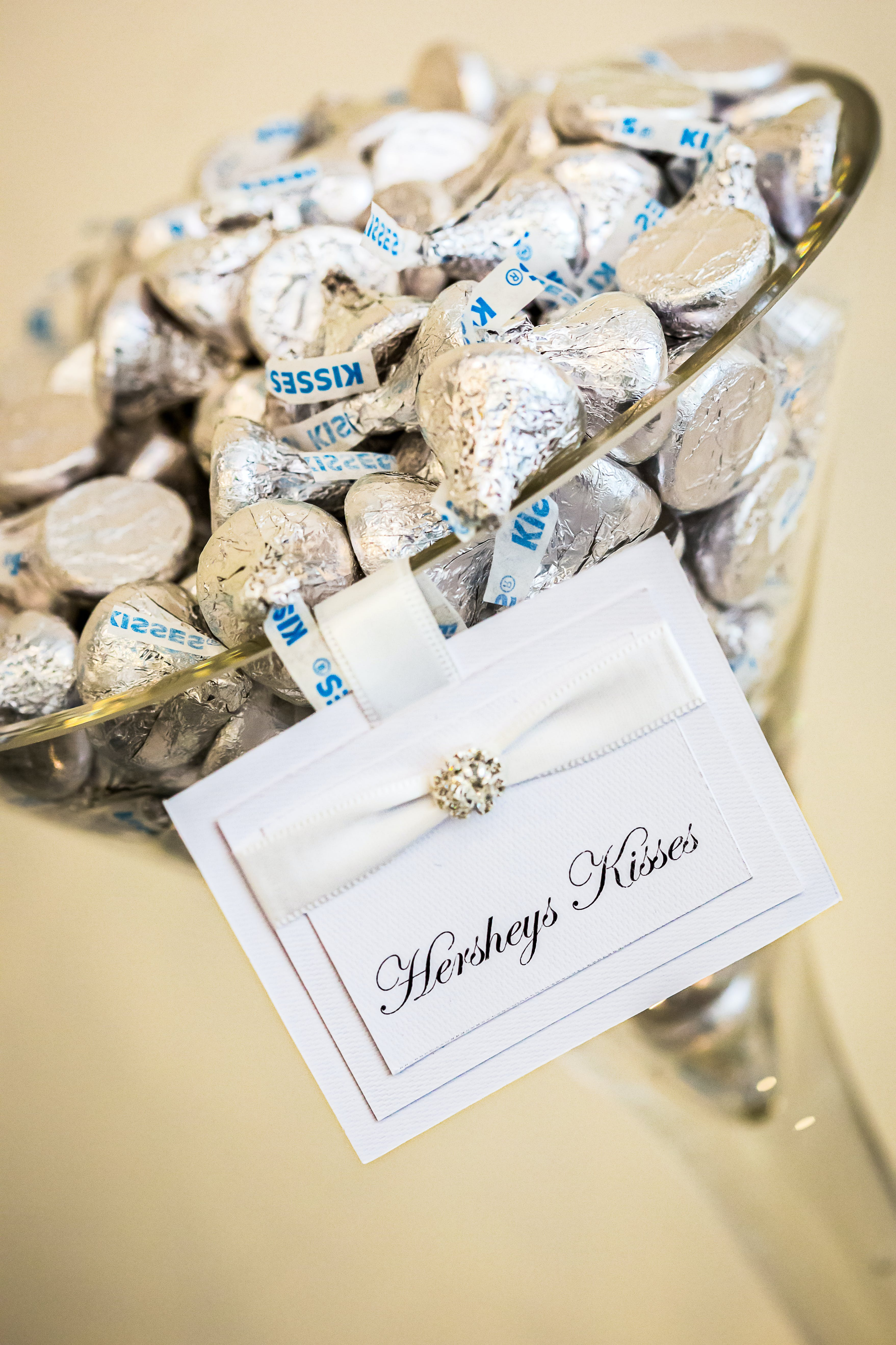 Hersheys Kisses on Glass Container