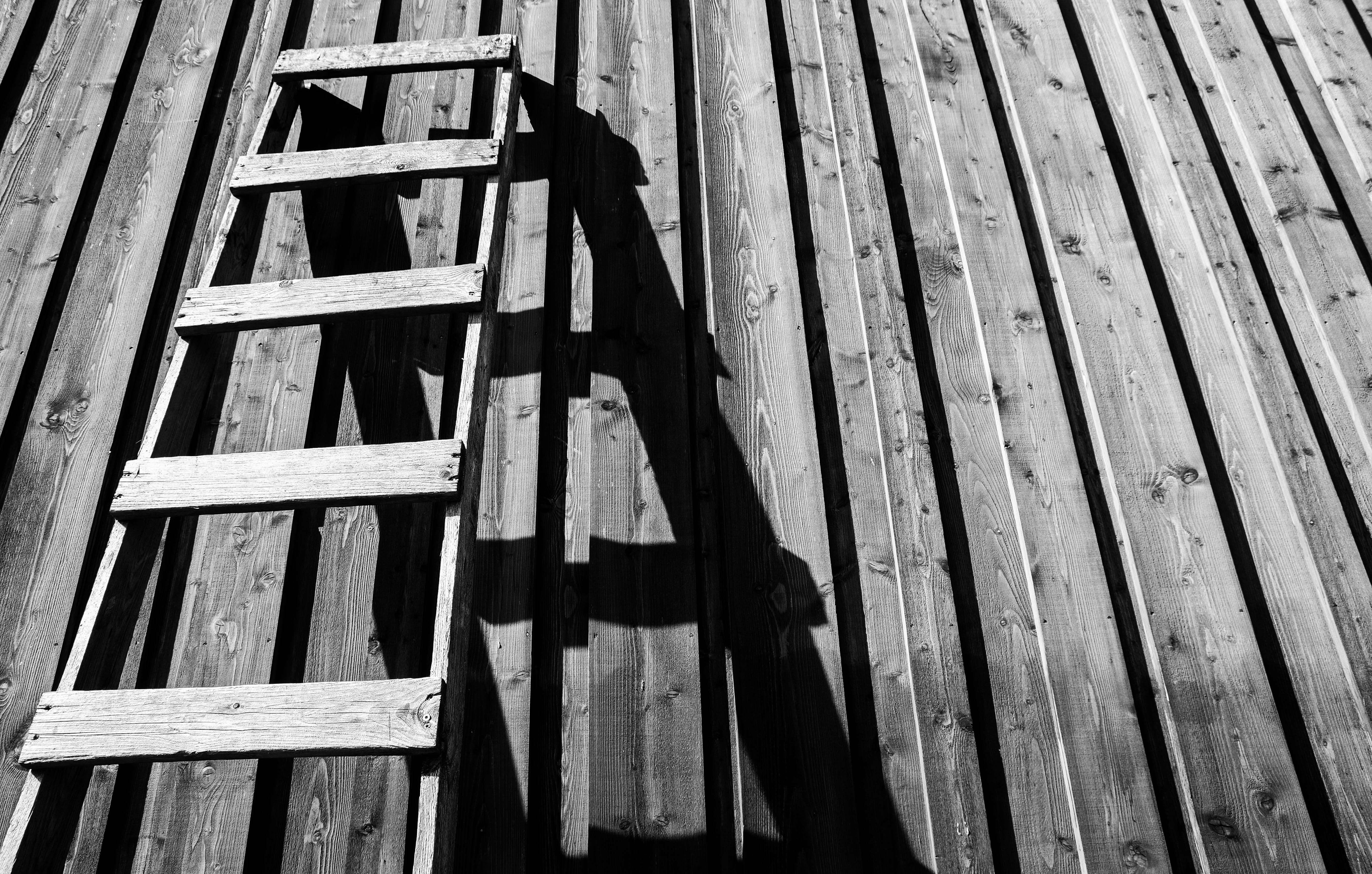 Gray Wooden Ladder