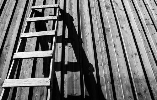 Gray Wooden Ladder